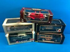 Lot of 5 Diecast Metal Classic Vintage Cars Ford Chevy Bel Air Fleetmaster Woody