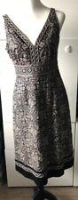 Monsoon Black dress size 10 EU38 embroidered excellent condition