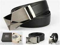 Men Belt 100% Genuine Leather Cavalli Bianchi Fashion Dress Auto Lock Buckle #3