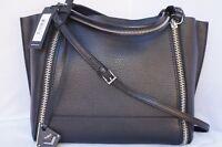 New Botkier Soho Big Zip Bite Tote Black Bag Shoulder Handbag