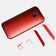Red For HTC One M8 Battery Back Door + SIM SD Card Holder + Top Bottom Cover