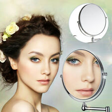 Wall Mounted Bathroom Shaving Make Up Adjustable Round 3X Magnifying Mirrors UK