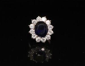 Cubic Zirconia Sapphire Designer Setting Round Ring 22 MR 11