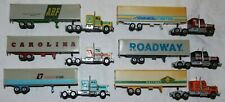Lot of (6) Yatming Vintage HO Scale Diecast Semi Tractor Trailer Trucks