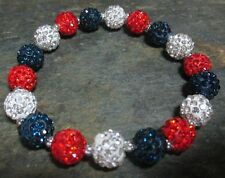 New England Patriots-Houston Texans- Bling- Crystal- Blue/Red/White-Bracelet