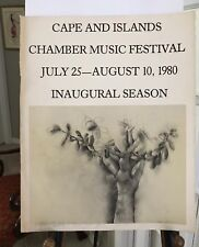 JIM DINE SIGNED 1980 Poster. Cape & Islands INAUGURAL CHAMBER MUSIC FESTIVAL
