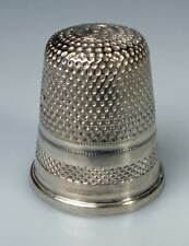 thimble sterling silver oblique ornament Prantl Germany