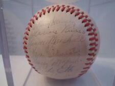 1946 NY YANKEES TEAM SIGNED BALL - JOE DIMAGGIO - RED RUFFING - JSA CERTIFIED