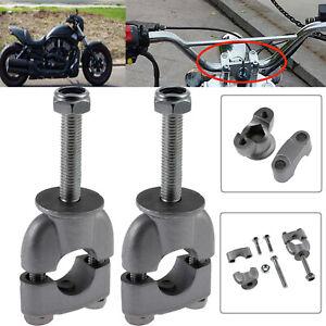 1Pair 7/8'' Handlebar Risers Bar Kit Metal Mount Clamp For Motorcycle Handle Bar