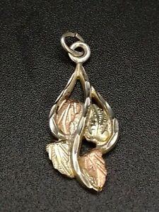 Black Hills Gold Sterling Silver 12K Gold Pendant