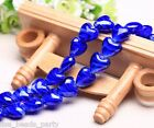 10pcs 16x14mm Exquisite Heart Lampwork Glass Finding Loose Beads Royal Blue