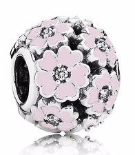 Authentic PANDORA Silver Primrose Meadow Pink Bead Charm 791488EN68
