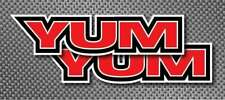 """2x YUM 6"""" decals stickers Tackle Box Lures fishing boat tournament truck Baits"""