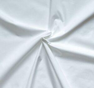 0,5 m 100% Baumwolle Stoff,  Weiß bis 90 Gr. waschbar
