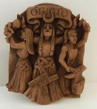 BRIGID Celtic Sun Goddess Wall Plaque Wiccan Pagan Dryad Design wood look plaque