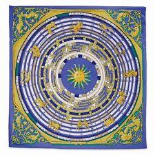 Jackie Kennedy Blue Zodiac Handmade Silk 35in Fashion Scarf Camrose & Kross