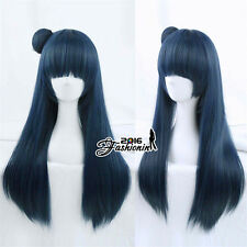 Long Anime For LoveLive!Sunshine!! Tsushima Yoshiko Cosplay Royal Blue Party Wig