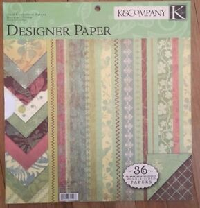 "U-choose K & Co. double-sided 12 x 12 ""Roam"" Vintage Wallpaper designer paper"