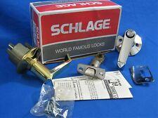 SCHLAGE - Brass / Chrome Bath / Bedroom Privacy Door Lever Set -F40N LEV 605/625