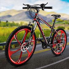 SMLRO MTB Mountain Bike 21 Speed 26 Inch High Carbon Steel Frame Damping Bicycle