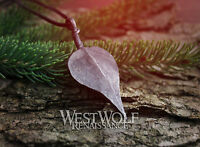 Hand-Forged Iron Leaf Pendant -- Viking/Celtic/Medieval/Steel/Nature/Elven