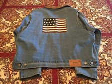 Polo Ralph Lauren USA Flag Denim Jacket Sz XL