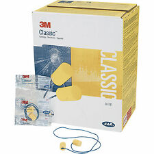 3M CC-01-000 -  EAR Classic Yellow Corded Earplugs - 200 Pairs Disposable ***