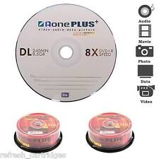 50 PACK SPINDLE AONE PLUS BLANK MEDIA DVD+R DL DISCS 8x SPEED DUAL LAYER 8.5GB