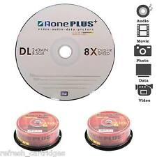 50 Pack Spindle auno Plus medios en blanco DVD+R DL Discos 8x De Velocidad De Doble Capa 8.5 Gb