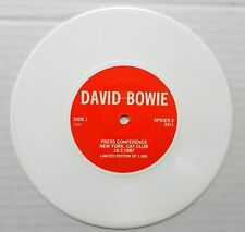 DAVID BOWIE 45 Press Conference  NYC Cat Club 1987 White Vinyl  #BB 549