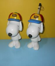 Two Peanuts Snoopy Water Bottles Travel Mugs from Cedar Point Sipper Cups 22 oz