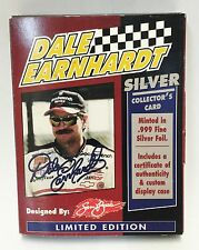 1998 DALE EARNHARDT REAL SIVER  COLLECTOR CARD   RARE !