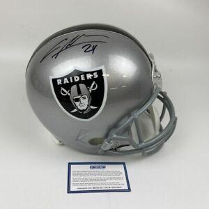 Autographed/Signed CHARLES WOODSON Oakland Raiders Full Size Helmet Steiner COA