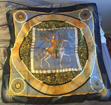 "Hermes Paris France Authentic Feux D'Artifice Silk Scarf 35""x35"" 1837-1987"