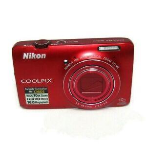 Nikon CoolPix S6300 16.0 MP 10X Zoom Full HD Red Digital Camera