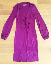 Mara Hoffman PURPLE silk Long Sleeve Dress Sz XS