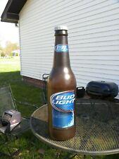 Bud Light Beer Bottle 3 Feet Plastic Coin Bank Advertising Sign