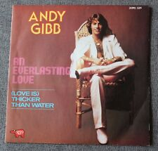 Andy Gibb, an everlasting love / (love is) thicker than water, SP - 45 tours