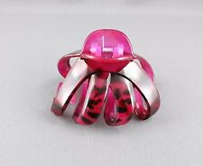 Pink octopus hair clip big spider barrette plastic claw clamp cheetah leopard