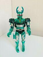RARE 1996 Mighty Morphin Power Rangers GREEN Battle Borg Toy Figure Bandai