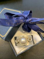 Solid silver serviette / napkin ring  Kaillis Mabe Pearl with Authenticity cert.