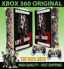 XBOX 360 Original left 4 Dead 2 Zombie sobrevivir a piel cubierta de pegatinas y 2 pieles Pad
