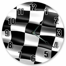 "10.5"" NASCAR RACE FLAG CLOCK - Large 10.5"" Wall Clock - Home Décor Clock - 3169"