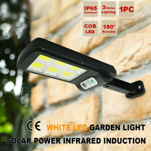 6COB Solar Street LED Light Motion Sensor Remote Outdoor Garden Flood Down Lamp