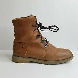 The North Face Ballard Brown Suede Canvas Lace Up Boots Women's US Size 7