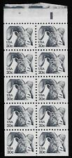 US Scott #1949a, Booklet Pane Plate #34 1982 Bighorn Sheep 20c FVF MNH