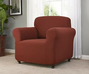 JERSEY PURPLE CHAIR SLIPCOVER  ALSO IN SOFA LOVESEAT RECLINER SIZES-FITTED