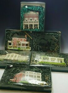 6 SHELLA'S WOODEN COLLECTIBLES GONE WITH THE WIND HOUSES ORIGINAL