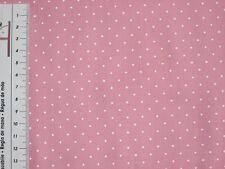 HILCO Baumwolle, HILDE, Stoff, Tupfen, Punkte,gepunktet rosa-weiß