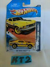 Hot Wheels HW Main Street '11 Yellow '70 Ford Mustang Mach 1 (KT2)